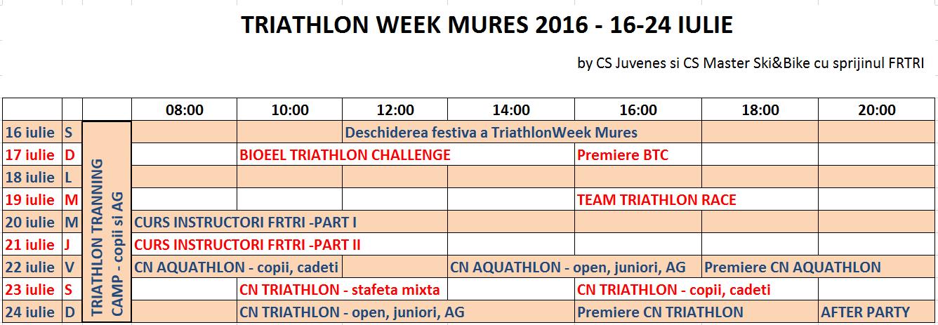 Triathlon Week - Mures 2016